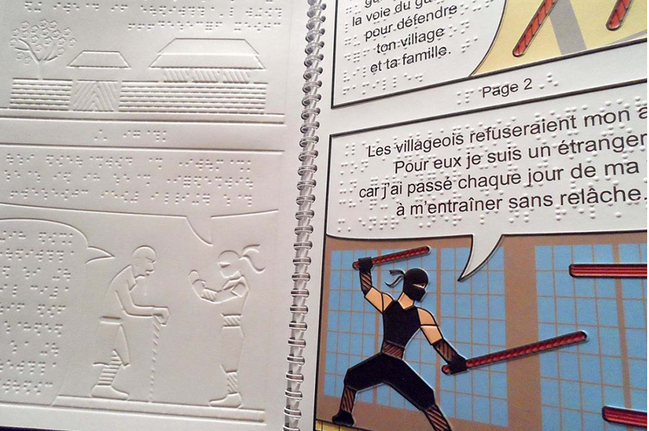 bandes dessinées braille
