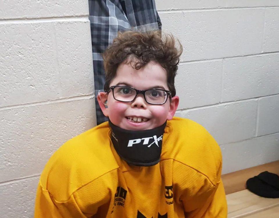 hockey aveugle